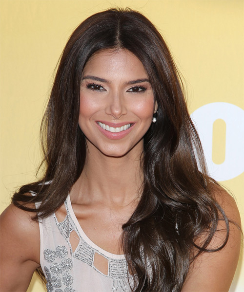 Roselyn Sanchez Long Straight Casual   Hairstyle   - Dark Brunette