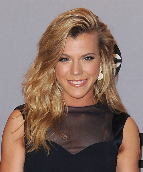 Kimberly Perry Long Straight Casual    Hairstyle   - Dark Golden Blonde Hair Color