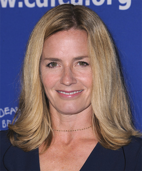 Elisabeth Shue Medium Straight Casual    Hairstyle   -  Blonde Hair Color