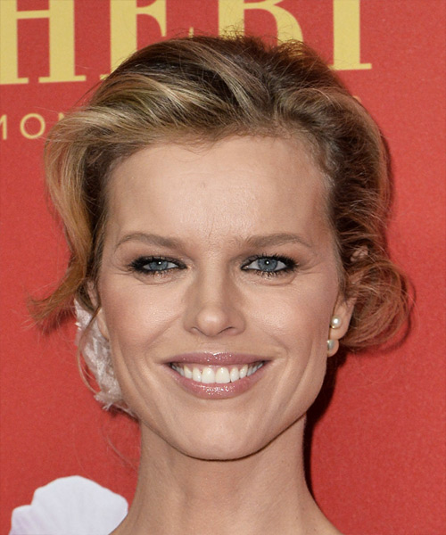 Eva Herzigova Long Wavy Formal   Updo Hairstyle   - Dark Blonde Hair Color