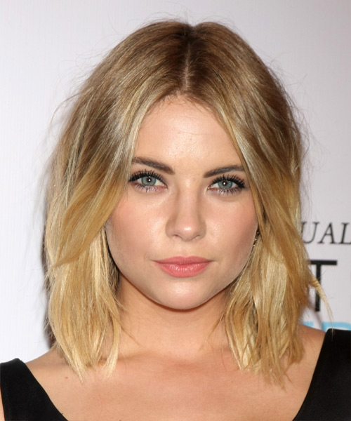 Ashley Benson Medium Straight   Dark Blonde   Hairstyle