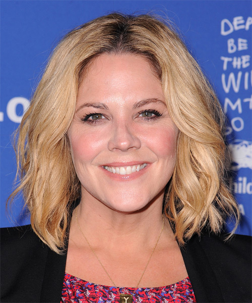 Mary McCormack Medium Wavy Casual   Hairstyle   - Medium Blonde