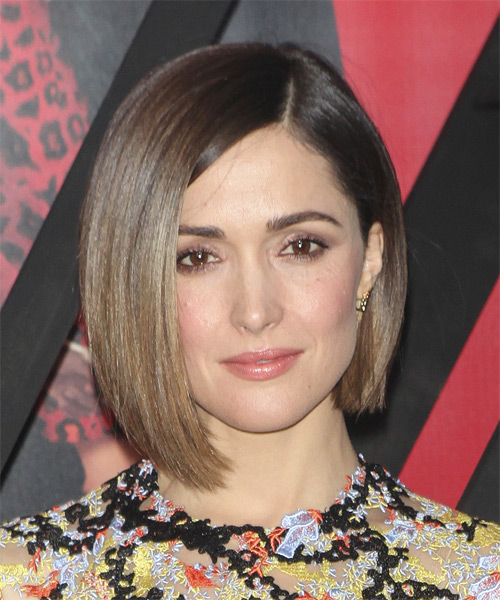Rose Byrne Medium Straight Formal Bob  Hairstyle   - Medium Brunette (Chocolate)