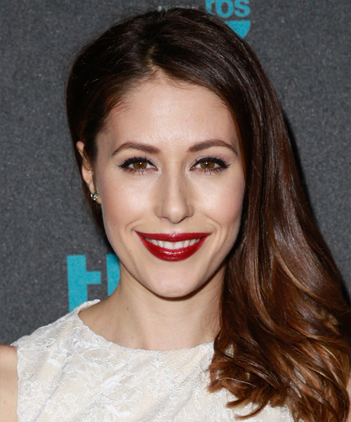 Amanda Crew Long Straight Formal   Hairstyle   - Medium Brunette