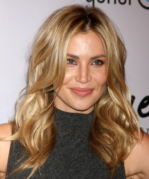 Willa Ford Long Wavy Casual    Hairstyle   - Dark Golden Blonde Hair Color with Light Blonde Highlights