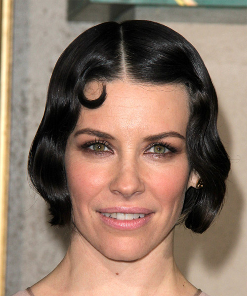 Evangeline Lilly Short Wavy Formal    Hairstyle   - Black  Hair Color