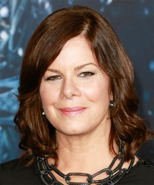 Marcia Gay Harden Medium Wavy Formal    Hairstyle   - Chocolate Hair Color