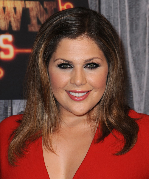 Hillary Scott Long Straight Casual   Hairstyle   - Dark Brunette