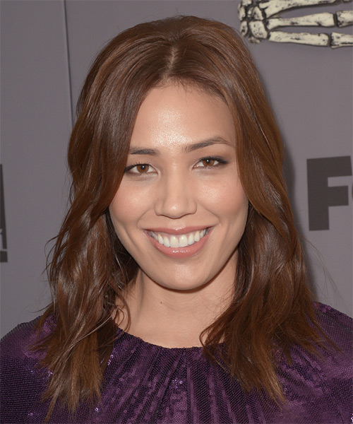 Michaela Conlin Long Wavy Casual   Hairstyle   - Medium Brunette (Chocolate)