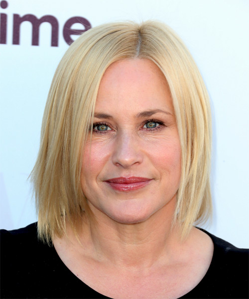 Patricia Arquette Medium Straight Casual  Bob  Hairstyle   - Light Blonde Hair Color
