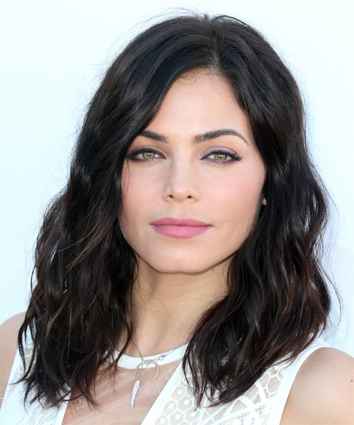 Jenna Dewan Medium Wavy Casual    Hairstyle   - Mocha Hair Color