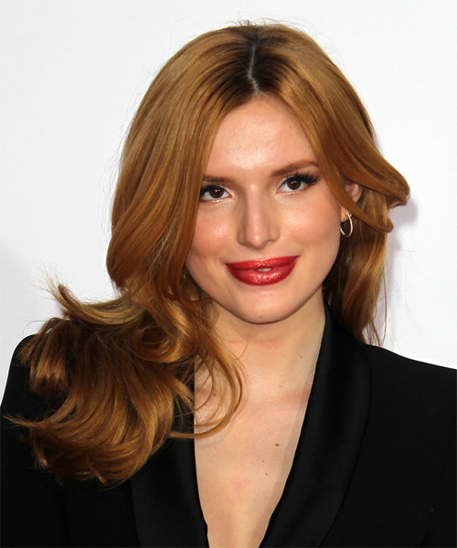Bella Thorne Long Straight Formal   Hairstyle   - Medium Red (Ginger)