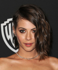 Willa Holland Medium Wavy Formal    Hairstyle   -  Mocha Brunette Hair Color
