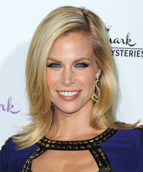Brooke Burns Medium Straight Formal   Hairstyle   - Medium Blonde