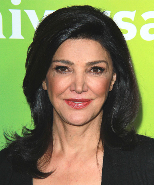 Shohreh Aghdashloo Long Straight Formal   Hairstyle   - Black