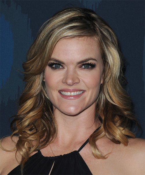 Missi Pyle Long Wavy Formal    Hairstyle   - Dark Blonde Hair Color