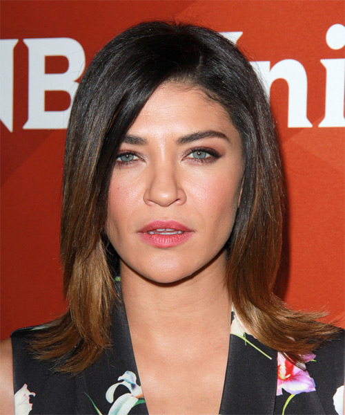 Jessica Szohr Long Straight Casual   Hairstyle   - Medium Brunette (Auburn)