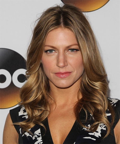 Jes Macallan Long Wavy Formal   Hairstyle   - Medium Brunette (Chestnut)