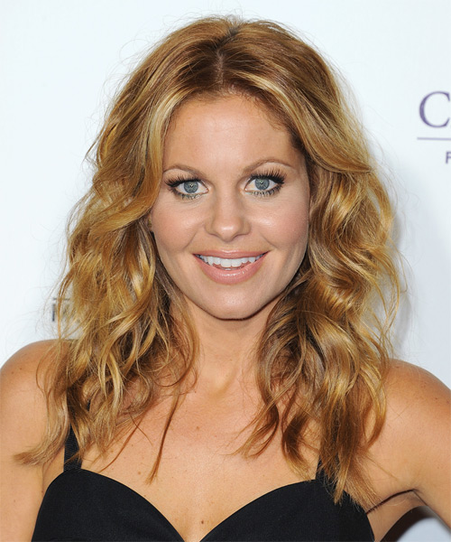 Candace Cameron Bure Long Wavy   Dark Golden Blonde   Hairstyle