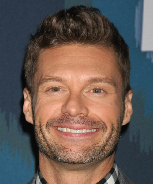 Ryan Seacrest Short Straight Casual   Hairstyle   - Dark Brunette (Chocolate)