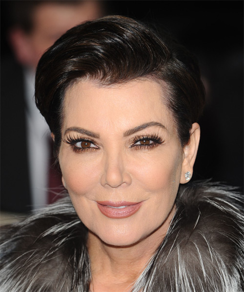 Kris Jenner Short Straight Formal    Hairstyle   - Mocha Hair Color