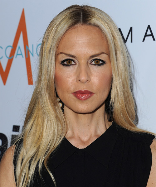 Rachel Zoe Long Straight Casual    Hairstyle   - Light Blonde Hair Color