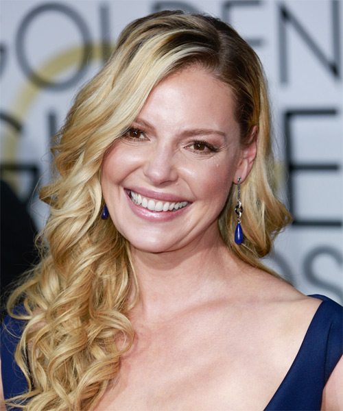 Katherine Heigl Long Curly Formal   Hairstyle   - Medium Blonde