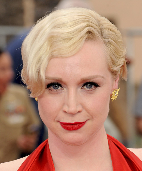 Gwendoline Christie Short Wavy Formal    Hairstyle   - Light Blonde Hair Color