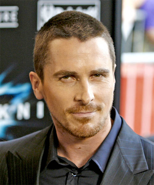 Christian Bale Short Straight Casual   Hairstyle