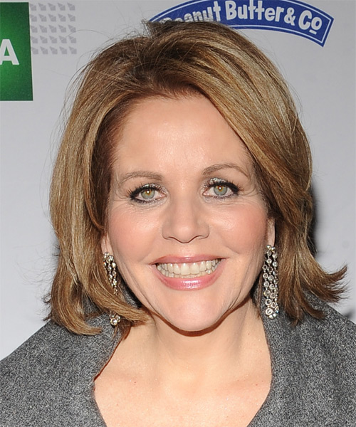 Renee Fleming Medium Straight Formal   Hairstyle   - Light Brunette
