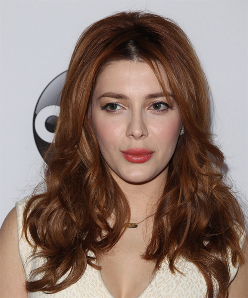 Elena Satine Long Wavy Casual   Hairstyle   - Medium Brunette