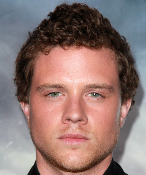 Jonny Weston Short Curly Casual   Hairstyle   - Medium Brunette