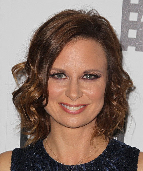 Mary Lynn Rajskub Medium Wavy Casual    Hairstyle   -  Chocolate Brunette Hair Color