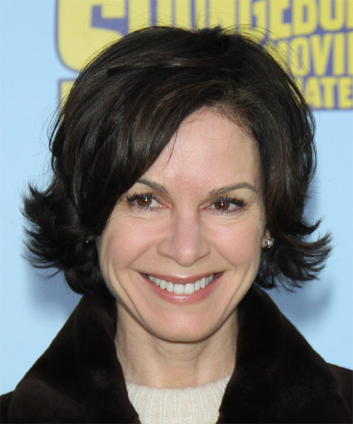 Elizabeth Vargas Short Straight Casual    Hairstyle   - Dark Brunette Hair Color