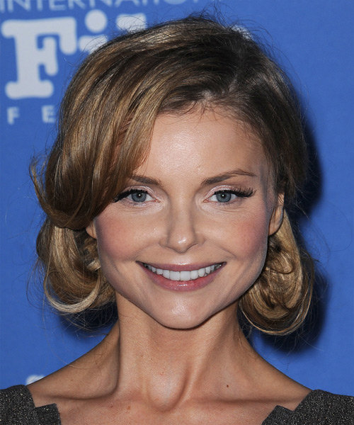 Izabella Miko Long Straight Formal   Updo Hairstyle   - Light Brunette Hair Color