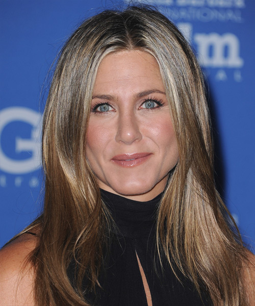 Jennifer Aniston Long Straight Casual    Hairstyle   - Light Brunette Hair Color