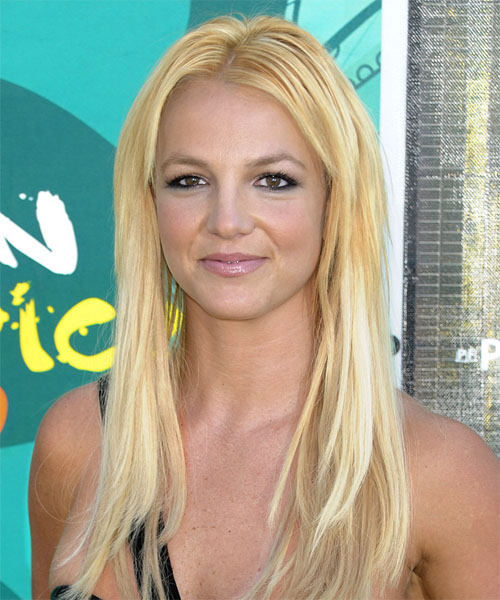 Britney Spears Long Straight Casual   Hairstyle