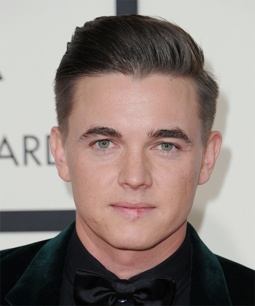 Jesse McCartney Short Straight Formal   Hairstyle   - Medium Brunette (Ash)