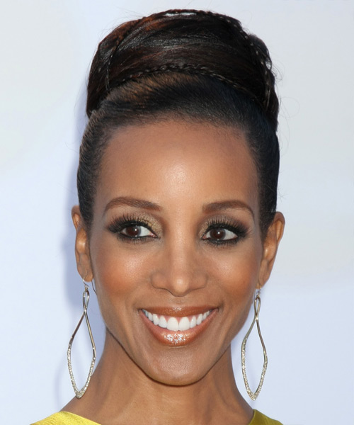 Shaun Robinson Long Straight Formal Updo