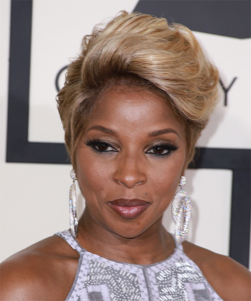 Mary J Blige Short Straight Formal   Hairstyle   - Light Brunette