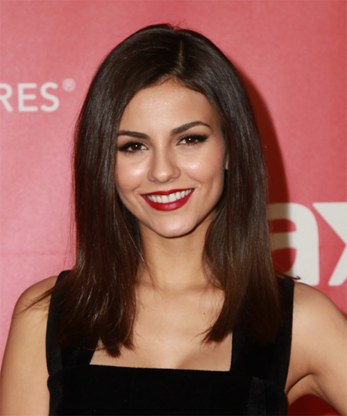 Victoria Justice Long Straight Casual   Hairstyle