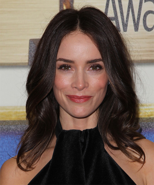 Abigail Spencer Medium Wavy Formal   Hairstyle   - Dark Brunette (Chocolate)