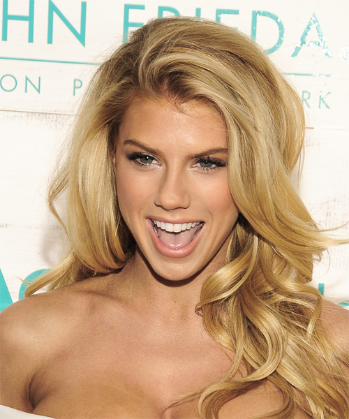 Charlotte McKinney Long Wavy Casual   Hairstyle   - Medium Blonde