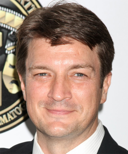 Nathan Fillion Short Straight Formal   Hairstyle   - Medium Brunette (Chocolate)