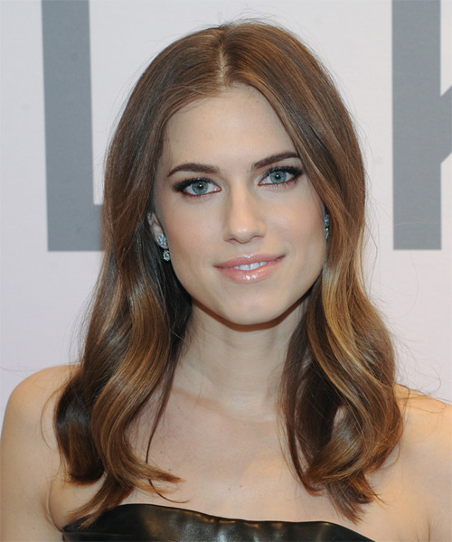 Allison Williams Long Straight Casual   Hairstyle   - Medium Brunette