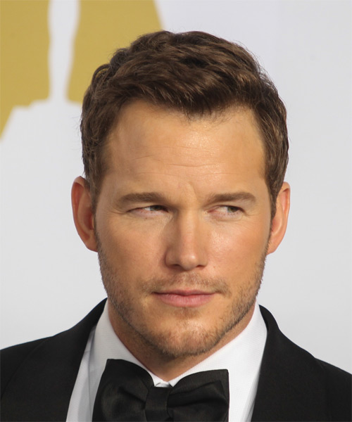 Chris Pratt Short Straight Formal   Hairstyle   - Medium Brunette