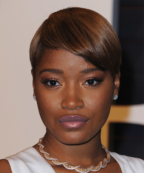 Keke Palmer Short Straight Formal    Hairstyle   - Dark Brunette Hair Color