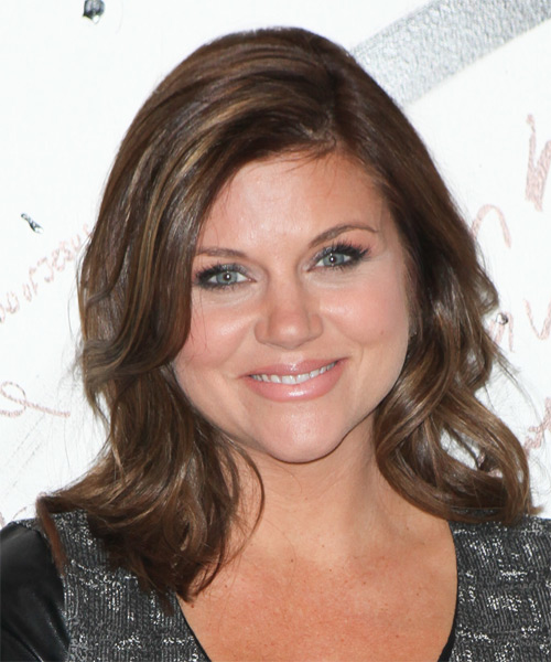 Tiffani Thiessen Medium Wavy Casual   Hairstyle   - Medium Brunette (Chocolate)