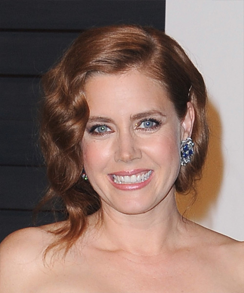 Amy Adams Medium Wavy Formal Wedding  Hairstyle   - Medium Brunette (Auburn)