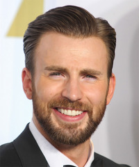 Chris Evans Short Straight Formal    Hairstyle   - Light Ash Brunette Hair Color